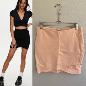 Aritzia Sunday Best Primrose Mini Skirt Peach